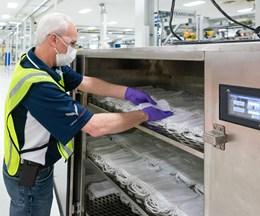 GM está expandiendo su apoyo a la producción de equipos médicos al convertir temporalmente su planta de Warren, Michigan, para construir máscaras quirúrgicas de Nivel 1. Foto: GM.