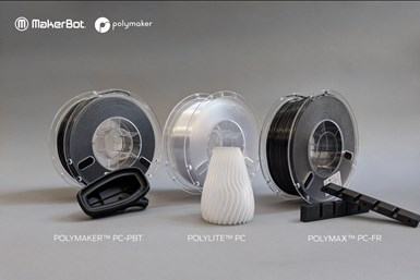 PC-PBT, PolyMax, PC-FR y PolyLite PC de Polymaker.