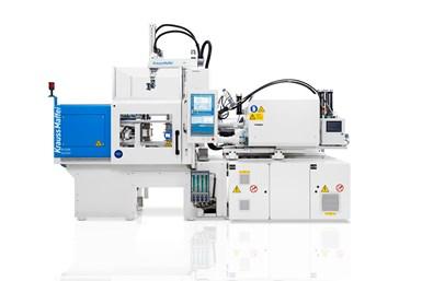 Máquina de moldeo por inyección modelo SilcoSet PX 121-180 totalmente eléctrica, deKraussMaffei.