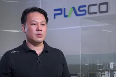 Tony Wang, presidente de la asociación y también gerente general de Plasco International.
