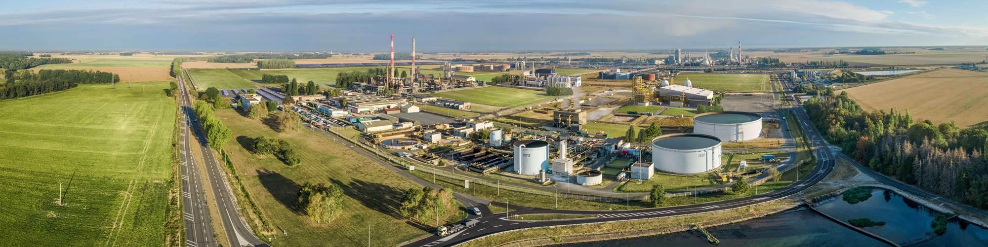 Vista del sitio en Grandpuits, Francia, donde Total Corbion PLA tiene la intención de construir su segunda planta Luminy PLA con una capacidad de hasta 100.000 toneladas por año.