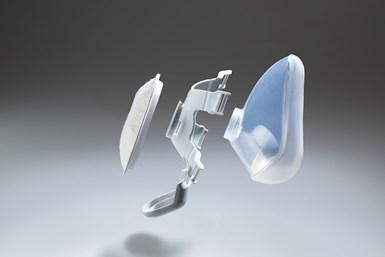 Las mascarillas, fabricadas con caucho de silicona líquida y polipropileno, ahora cuentan con un filtro desechable que se puede acoplar fácilmente a la abertura del dispositivo.