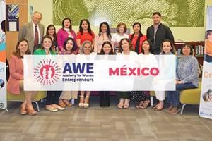 Academia de Mujeres Emprendedoras en México (AWE México, por sus siglas en inglés).