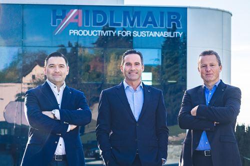 El equipo de gestión de Haidlmair (de izquierda a derecha) Rene Haidlmair, Mario Haidlmair y Heinz Klausriegler, están intensificando sus esfuerzos hacia la sostenibilidad.