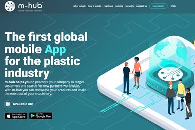 La aplicación m-hubpermiteexplorar todos los segmentos de la industria del plástico y la cadena de suministro.