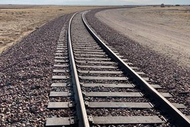 Traviesas para trenes fabricadas con plástico reciclado.