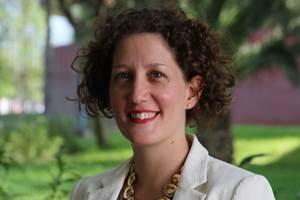 Claire Barnouin, directora ejecutiva del Clúster Aeroespacial de Nuevo León.