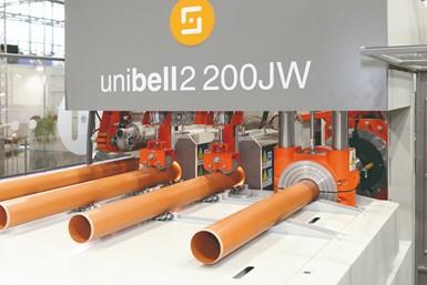 Las nuevas abocardadoras Sica, como la Unibell y la Multibell para los tubos de PVC, o la Everbell para los tubos de PP, ofrecen altos niveles de productividad y un bajo consumo energético.