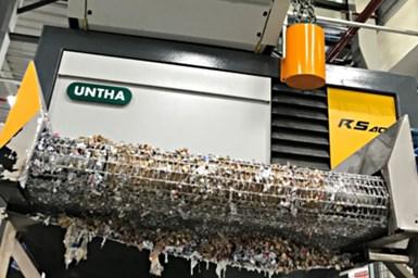 En el corazón del sistemade P&G estáun equipo UNTHA RS40 de cuatro ejes.