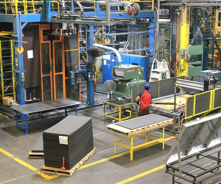 Confer Plastics is working overtime to make and ship blow molded products before a state-mandated two-week shutdown.