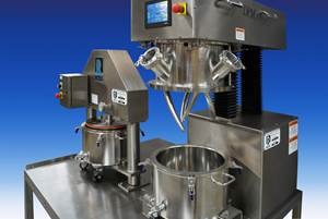 Mixing: Planetary Mixing & Discharging in a Sanitary Turnkey System
