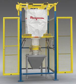 Material Handling: Bulk Conveyor with Safety Cage