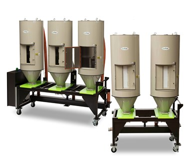 Drying System with Multiple Hoppers