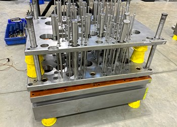 Injection Molding: Magnetized Elevation Pads Simplify Support of Molds & Machinery