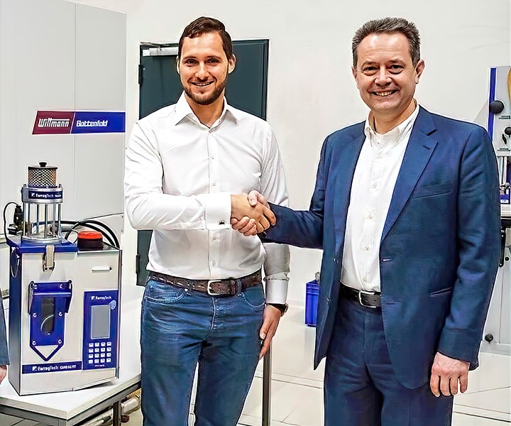 FarragTech's former owner, Aaron Farrag and Michael Wittmann, managing director of Wittmann Group.