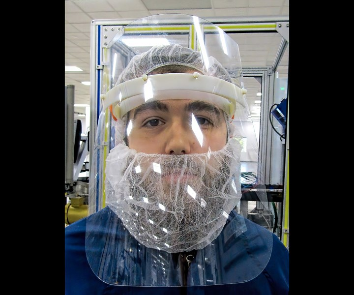 Tessy Plastics shifted gears to design and injection mold face shields for medical personnel.