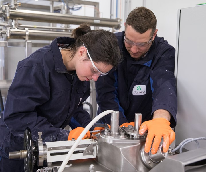 Scientists operating Carbios' technology