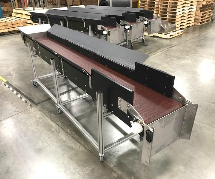 Hybrid conveyor for blow molding from Dynamic Conveyor