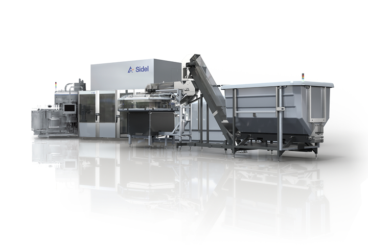 Sidel Combi BD PET bottle blowing and labeling system