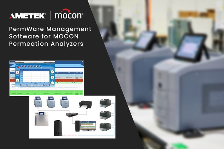 Ametek Mocon's new PermWare software for Mocon permeation analyzers.