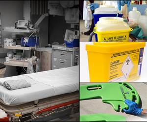 Polymer Fusion Labeling with Antimicrobial Agent for Medical & HazMat Equipment