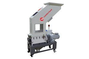 Cumberland's S10 Series Granulator offers low-speed (and reduced energy) size reduction with rotating speeds of 25 rpm.
