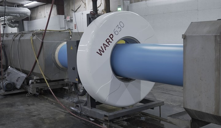 C900 PVC管道挤出生产线Inoex经编测量系统。