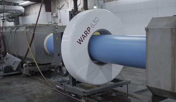 基于在线雷达的挤压C900 PVC管道测量材料成本,提高了质量图像
