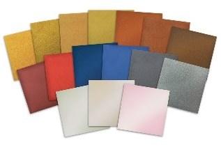 Plexiglas sheet in metallic and iridescent colors