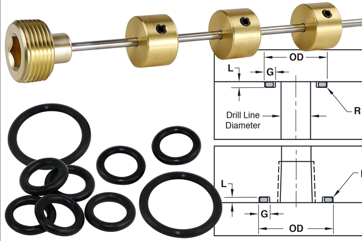 Progressive Components Diverting rods and O-rings