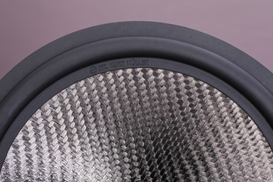 DKM's next-generation loudspeaker cone assembly made with Stylight  carbon SAN compos