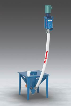 Flexible Screw Conveyor Resists Abrasion