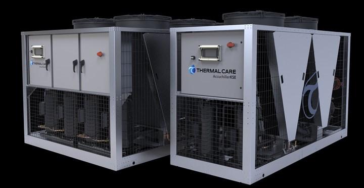 Outdoor chiller for plastics processing