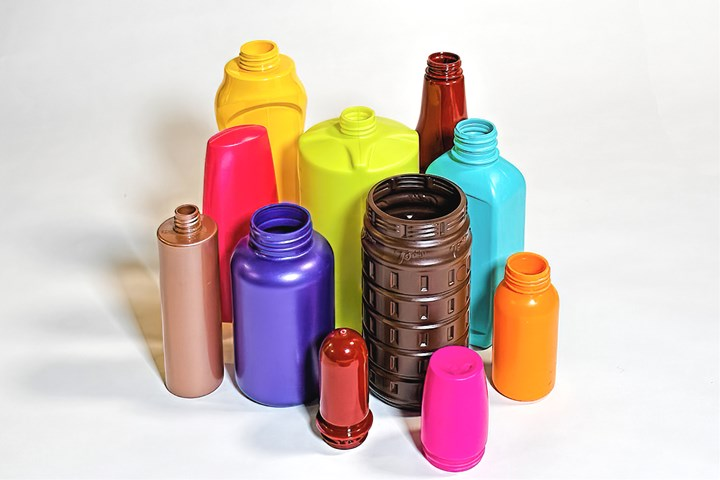 Highly colored polyolefin bottles now can be measured for thickness with noncontact optical technology.