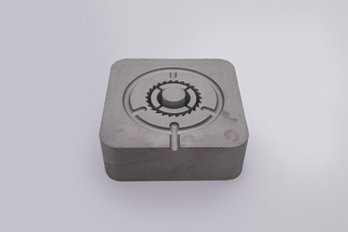 Unusually high-precisiondetails andvery low shrinkagedistinguish TrueShapeinserts like this one fora medical device mold.