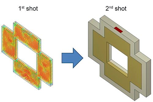 Simulating Two-Shot Molding: How Does the First Shot Affect Overall Part Warpage?