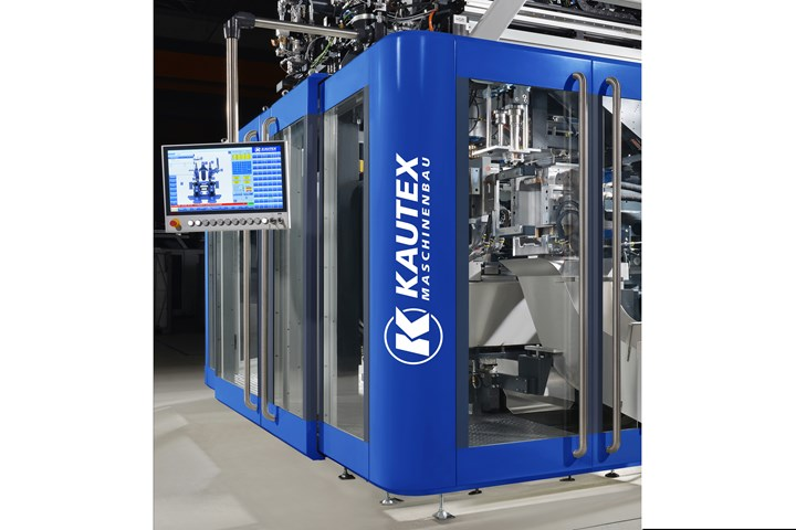 Kautex's new Skyreef platform for packaging machines offers a new controller and a choice of hydraulic, hybrid and all-electric drives in a modular format.