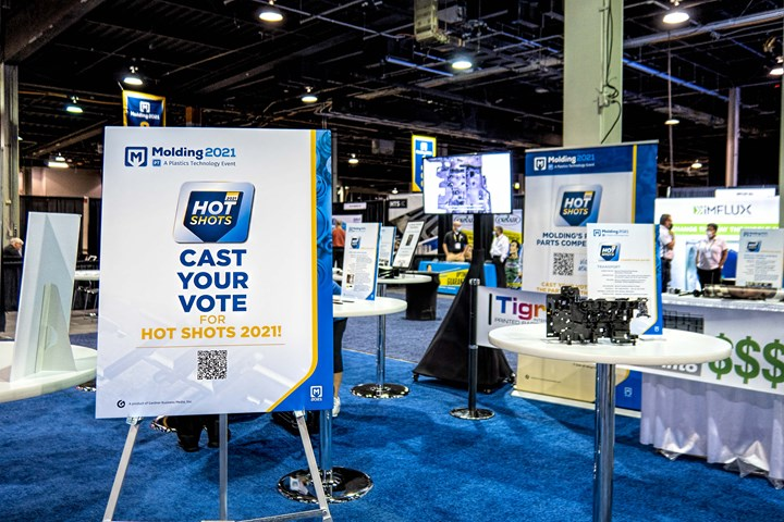 The first-ever Hot Shots Injection Molded Parts Competition was a new addition to the Molding 2021 Conference.