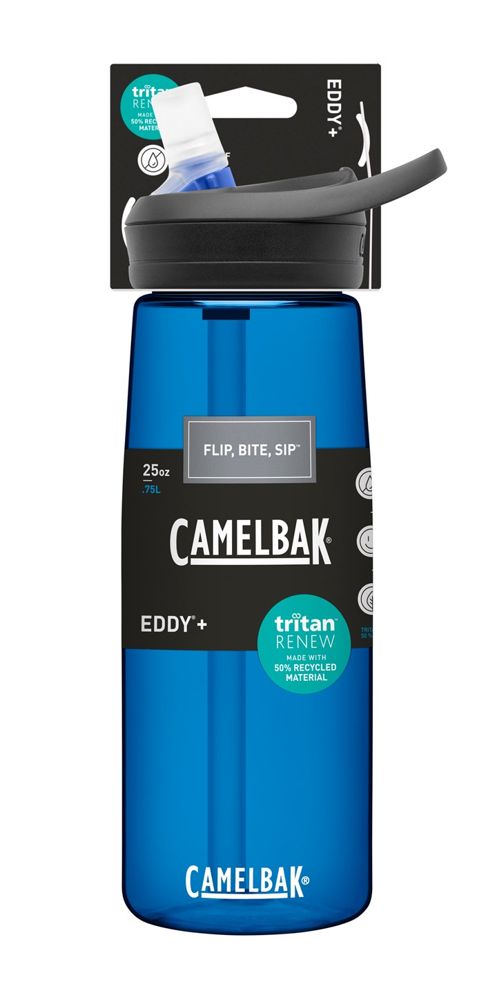 CamelBak's Eddy+ reusable water bottle made with Tritan Renew