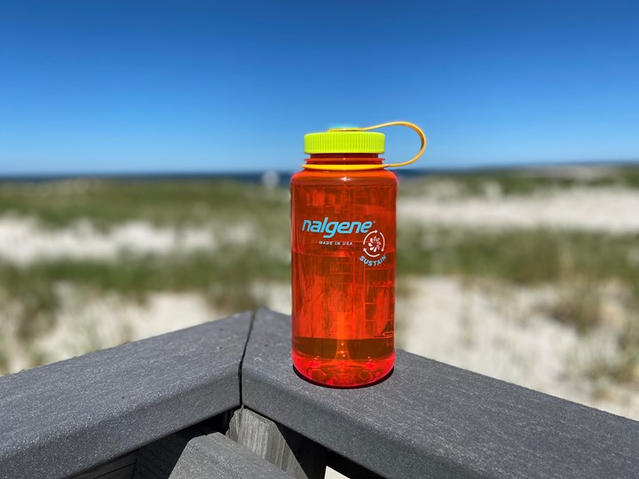 Nalgene's Sustain reusable water bottles made of Tritan Renew