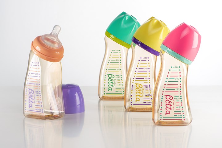 Zoom T's next-generation curved baby bottles extrusion blow molded with BASF's Ultrason PPSU