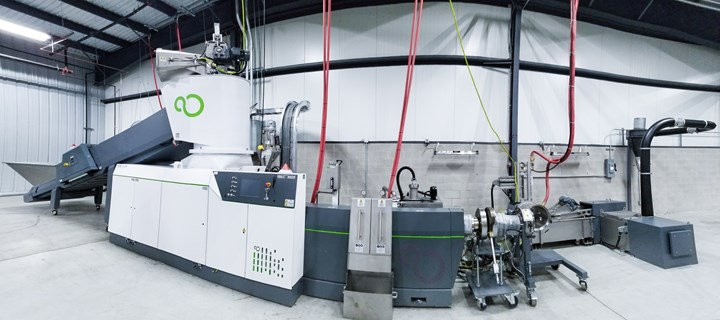 Erema North America's tech center with new Pure Loop recycling machine