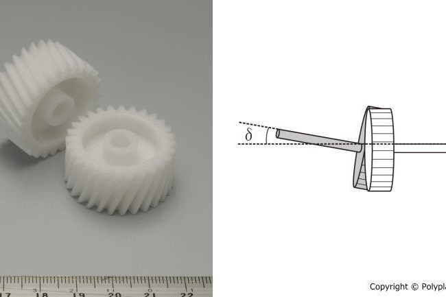 Polyplastics' design tips on noise reduction in helical gears