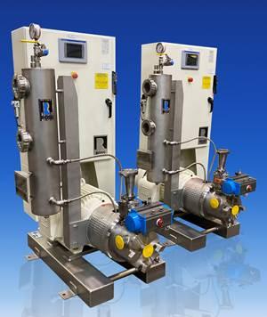 内联剪切搅拌机诱导粉末,均匀化和泵