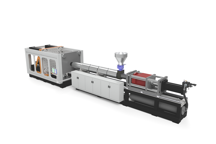 New MP500 medium-pressure injection and structural-foam press from Wilmington Machinery