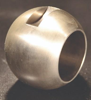 A ball valve