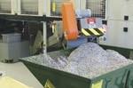 Bundle loader (top) and chip conveyor