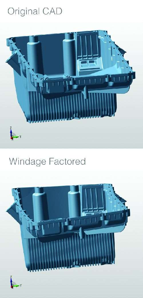 original CAD vs windage CAD