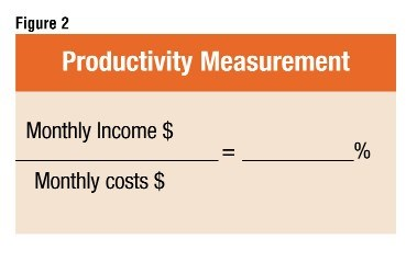 Fig.2: Provides the formula for determining the productivity measurement.