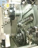Close up of the tooling area